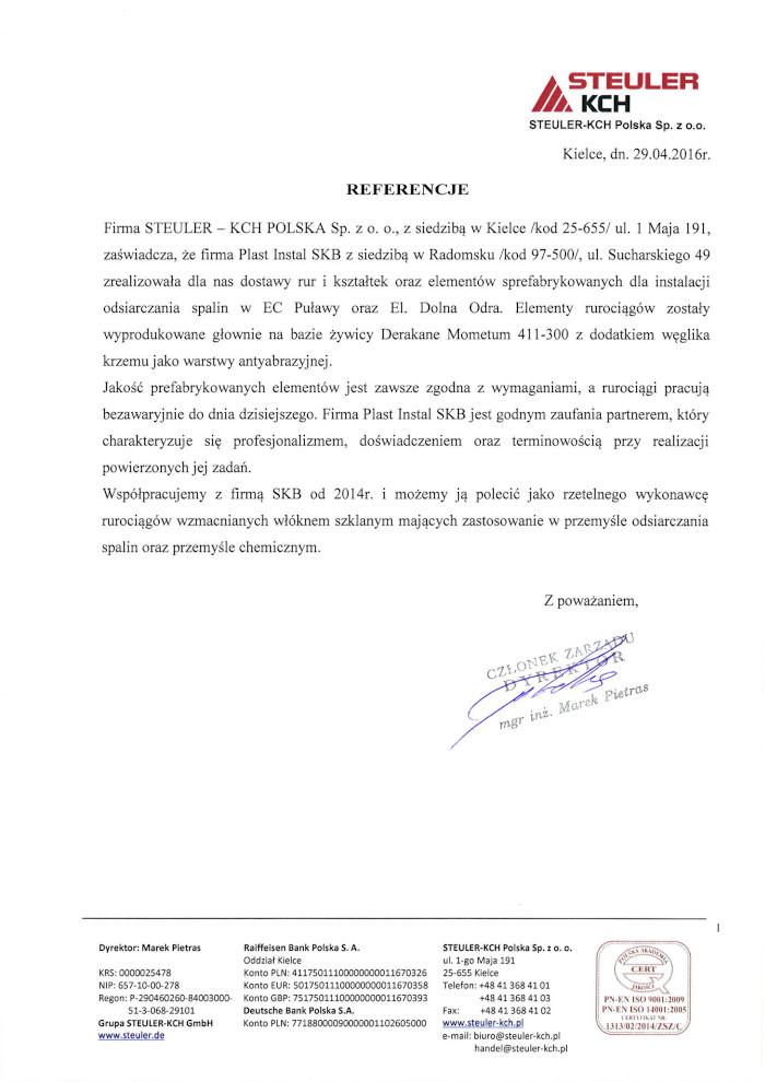 Referencje STEULER-KCH